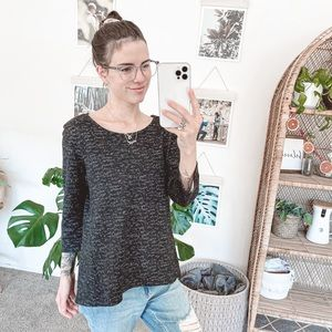 Anthropologie W5 Heathered 3/4 Sleeve Top